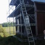 Seinä maalattiin kesällä 2013! Telineen koko: 9m x 6m