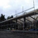 Halli rakennettiin syksyllä 2013! Telineen koko: 70m x 4m