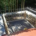 Uudisrakennus kesällä 2014! Telineen koko: 33m x 3m