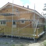 Talo maalattiin kesällä 2014! Telineen koko:  24m x 3m